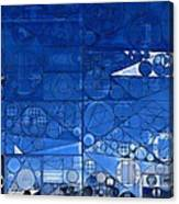 Abstract Painting - Yale Blue Canvas Print