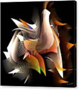 Abstract Peacock Canvas Print