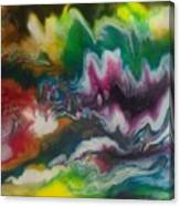 Abstract Resin Pour Canvas Print