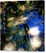 Abstract Water Blues Canvas Print