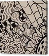 Aceo Zentangle Abstract Design Canvas Print