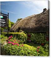 Adare Thatch Roof Cottages Ireland Canvas Print