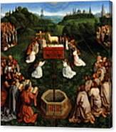 Adoration Of The Mystic Lamb Canvas Print