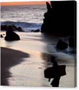 Adraga Beach In Sintra Natural Park Canvas Print