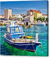 Adriatic Town Of Razanac Colorful Waterfront Canvas Print