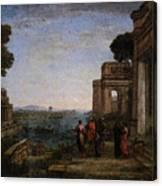 Aeneas Farewell To Dido In Carthago  Canvas Print