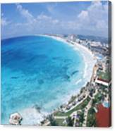 Aerial Of Cancun Canvas Print