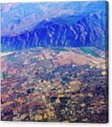 Aerial Usa. Los Angeles, California Canvas Print