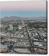 Aerial View Of Las Vegas City Canvas Print
