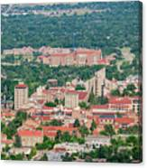 Aerial View Of The Beautiful University Of Colorado Boulder Canvas Print