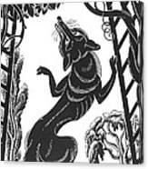 Aesop: Fox & Grapes Canvas Print