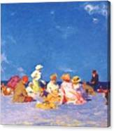 afternoon fun Edward Henry Potthast Canvas Print