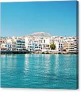Agios Nikolaos Panorama Canvas Print
