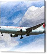 Air Canada Boeing 767 Art Canvas Print
