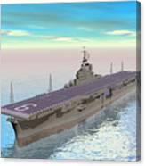Aircraft Carrier - 3d Render Canvas Print
