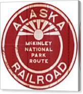 Alaska Railroad Aged Canvas Print