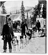 Alaskan Dog Sled, C1900 Canvas Print