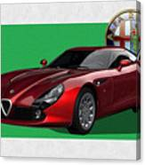 Alfa Romeo Zagato  T Z 3  Stradale With 3 D Badge  Canvas Print
