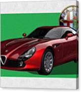 Alfa Romeo Zagato  T Z 3  Stradale with 3 D Badge  Canvas Print