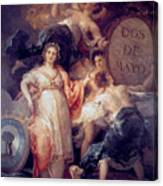 Allegory Of The City Of Madrid Canvas Print