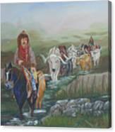 Along The Bozeman Trail Canvas Print