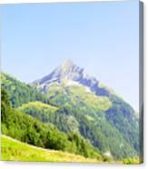 Alpine Mountain Peak Landscape. Canvas Print