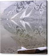 Alpine Winter Reflections Canvas Print
