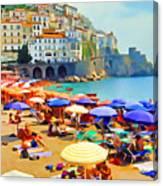 Amalfi Beach Canvas Print