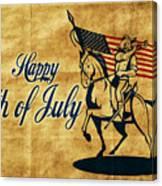 American Cavalry Soldier Canvas Print