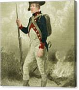 American Continental Soldier Canvas Print