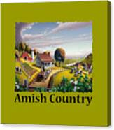 Amish Country T Shirt - Appalachian Blackberry Patch Country Farm Landscape Canvas Print