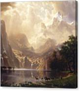 Among The Sierra Nevada, California Canvas Print