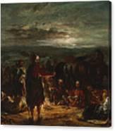 An Arab Camp At Night Canvas Print