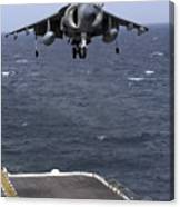 An Av-8b Harrier II Prepares To Land Canvas Print