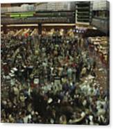 An Elevated View Of Traders Canvas Print