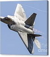 An F-22a Raptor Of The U.s. Air Force Canvas Print