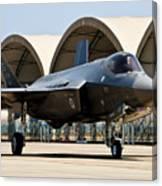An F-35 Lightning II Taxiing At Eglin Canvas Print