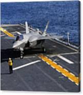 An F-35b Lightning II Makes A Vertical Canvas Print
