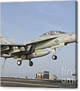 An Fa-18e Super Hornet Makes An Canvas Print