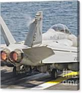 An Fa-18f Super Hornet Taking Off Canvas Print