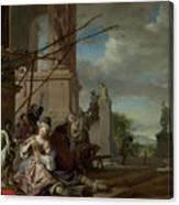 An Italian Courtyard Canvas Print