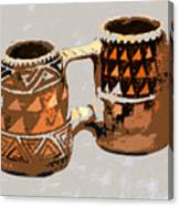Anasazi Double Mug Canvas Print