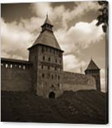 Ancient Walls. Sepia Canvas Print