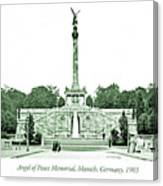 Angel Of Peace Memorial, Munich, Germany, 1903 Canvas Print