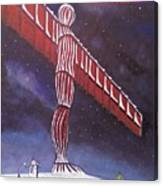 Angel Of The North Christmas Canvas Print