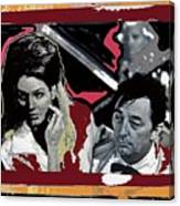 Angie Dickinson Robert Mitchum Pose Collage Young Billy Young Old Tucson Arizona 1968-2013 Canvas Print