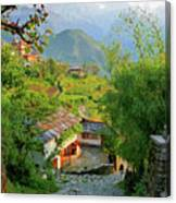 Annapurna Village Canvas Print