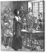 Anne Hutchinson (1591-1643) Canvas Print