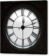 Antique Backlit Clock Canvas Print