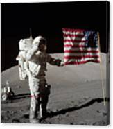 Apollo 17 Astronaut Salutes The United Canvas Print